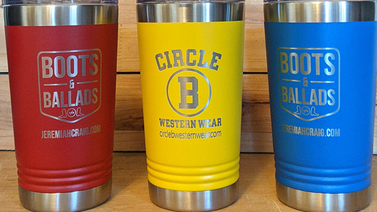 personalized coffee tumblers from Twisted Willow Fabrication